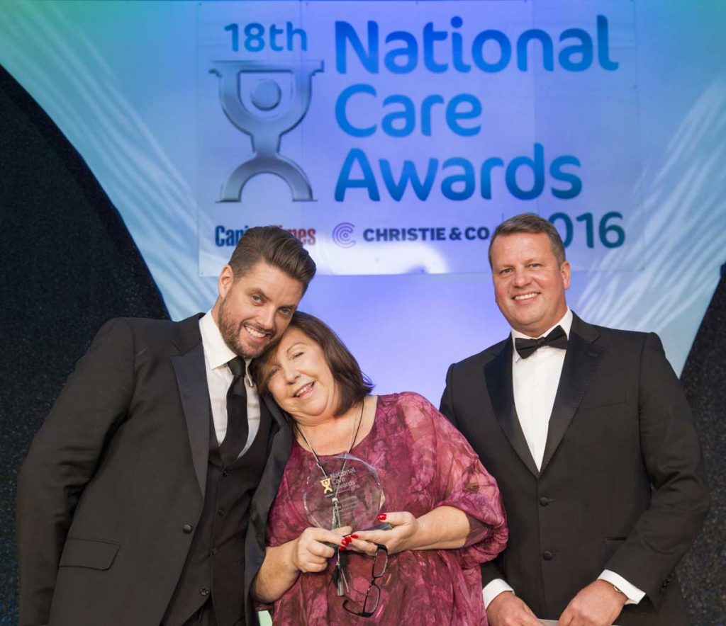 Home Manager at The New Deanery, Jane Sadowski scooped the top award in the Care Leadership 2016 category