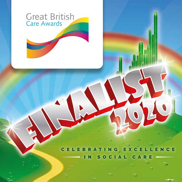 We're finalists in the Great British Care Awards 2020
