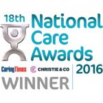 We were big winners at the 18th National Care Awards 2016 sponsored by Caring Times and Christie & Co